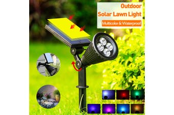 Solar Power Spot 7 LED Spotlight Outdoor Security Light Path Split Lamps (1pcs)