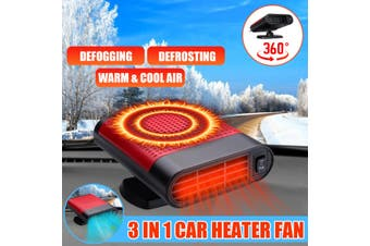 500W 12V Car Truck Auto Heater Hot Cool Fan Air Purification Windscreen Window Demister Defroster(Warm air with Cool air)