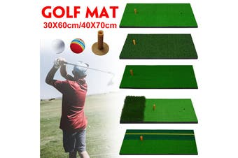 Portable Backyard Golf Mat Golf Training Aids Hitting Pad Practice Rubber Tee Holder High Elasticity Mat Indoor / Outdoor