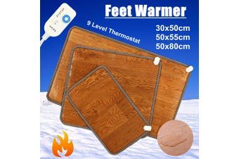 UK Electric Foot Feet Warmer Heated Floor Carpet Pad Mat Office Home # 30*50cm