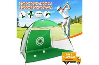 2m Outdoor 210D Oxford cloth Golf Practice Net Folding Nylon Golf Chipping Net Garden Grassland Golf Training Practice Net with Carry Bag(green,2 m)