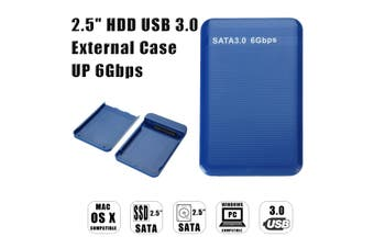 HDD Enclosure USB 3.0 2.5inch SATA External Hard Drive SSD Cover Case 6Gbps(Enclosure Only)