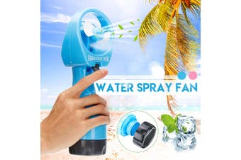 Portable Handheld Cooling Cool Water Spray Misting Fan Mist Summer Travel Beach(blue)