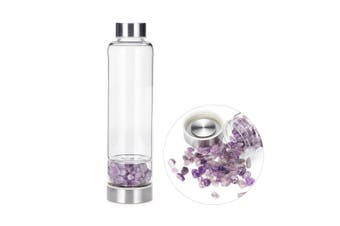 1pc Natural Gemstone Crystal Healing Obelisk Wand Elixir Quartz Water Bottle