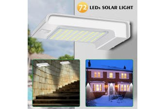 Solar Powered Bright 72 LED Wireless PIR Motion Sensor Security Shed Wall Light(Without remote control)