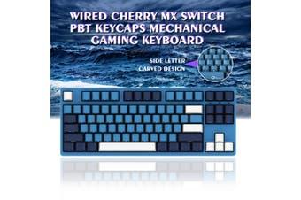 AKKO 3087SP Ocean Star Gaming Keyboard 87Key Type-C Wired Cherry MX Switch PBT Keycaps Mechanical Gaming Keyboard for PC Laptop(Red Switch)