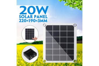20W Solar Panel Battery Charger(20W Single Panel)