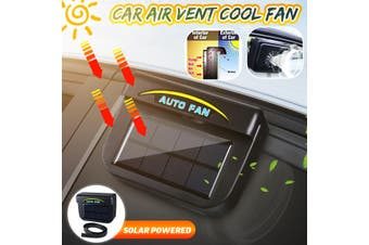 Solar Powered Car Window Windshield Auto Air Vent Cooling Fan Cooler Radiator(B)