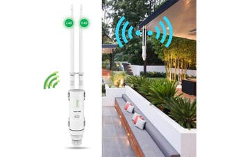 2.4G/5G 300Mbps/450Mbps Wavlink AC600/N300 Technology High Power Outdoor Weatherproof Wireless WIFI Router/AP Repeater-US Plug