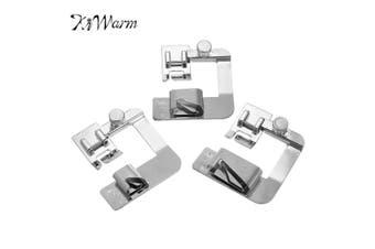 """KiWarm Modern 3Pcs 4/8"""" 6/8"""" 8/8"""" Presser Rolled Hem Feet Domestic Sewing Machine Hemmer Presser Sewing Accessories Tool"""