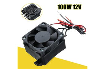 100W 12V DC PTC Fan Heater Constant Temperature Incubator Hot Space Thermostat