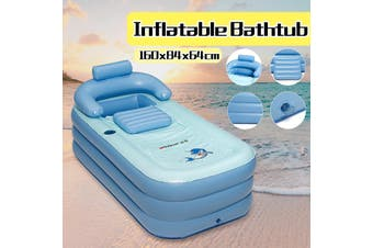 Portable Folding Bathtub Warm Inflatable Bath Tub Blowup Adult Spa Detachable
