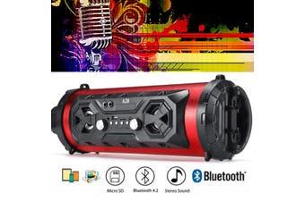 40cm 25W LED bluetooth Speaker Wireless FM Stereo Loud Bass Subwoofer USB TF AUX