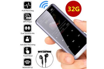 32GB bluetooth HiFi OLED Touch Mirror Screen Music MP3 MP4 Player Voice Recorder