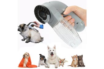 Electric Pet Dog Cat Hair Remover Cleaner Grooming Brush Comb Vacuum Trimmer AU