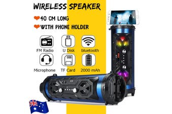 LED bluetooth Speakers Wireless FM Stereo Loud Bass Subwoofer Aux USB TF Boombox
