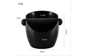 11.5cm Coffee Knock Box Espresso Grinds Waste Container Tamper Bin Black
