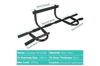 Heavy Duty Pull Up Bar Chin Up Door Gym Doorway Home Exercise Workout Portable