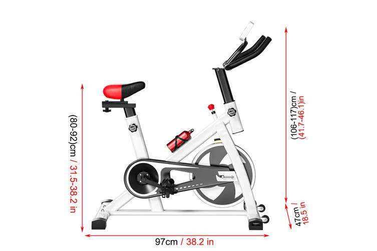 Exercise Bike 8KG Flywheel Fitness Cycling LCD Display Commercial Home Gym A