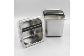 15cm Stainless Steel Coffee Knock Box Espresso Waste Grind Container Bin