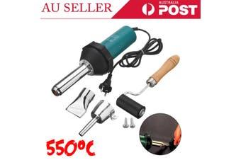 1080W 220V Plastic Welder Hot Air Welding Gun Heat Torch Speed Nozzle &Roller