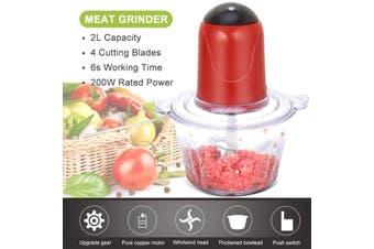 2L Electric Meat Grinder Blender Mincer Mixer Food Chopper Processor Machine