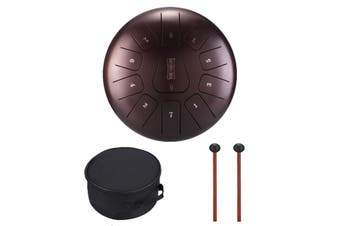 12'' Steel Tongue Drum Handpan C Major 11 Notes Scale Tankdrum +Bag Mallets