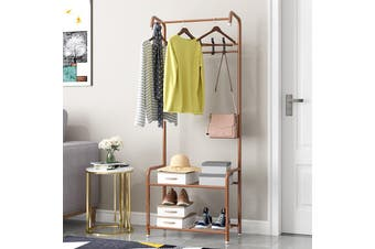 Entryway Clothes Coat Rack Garment Hanger Stand Hallway Shoes Organizer Shelf