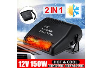 2IN1 Portable Car Vehicle Ceramic Heating Heater Fan Defroster Demister DC 12V 150W