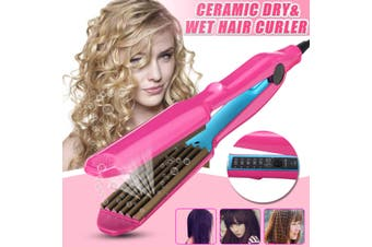 Ceramic Hair Curler Curl Curling Crimper Iron Salon Wet/Dry Styler Wave Waver AU