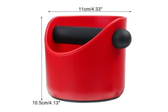 11cm Coffee Knock Box Espresso Grinds Tamper Bin Waste Container Holder Red Straight Mouth