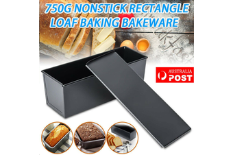 750g Rectangle Nonstick Box Loaf Tin Kitchen Pastry Bread Cake Baking Bakeware Tool
