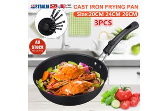 3PCS  Frypan Set with 26cm lid,Blue Stone Non-Stick induction,Frying Pan,Fry Pan