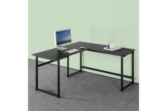 Zinus Luke L-shape Corner Office Desk Laptop Computer Study Student Table Wood Metal - Medium