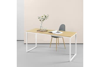 Zinus Jennifer Modern Office Soho Desk Laptop Computer Study Student Table Wood Metal in White
