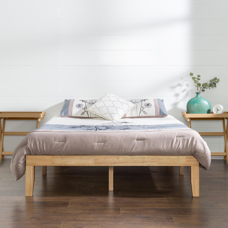 Zinus Moiz 35cm Timber Wood Platform Bed Frame Base Mattress Support Foundation Wooden In Single Double Queen King Natural Matt Blatt