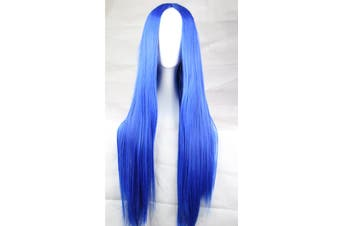 New 75cm Straight Sleek Long Synthetic Cosplay Costume Wigs Party Womens Gift - Blue
