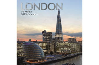 London 2019 Premium Square Wall Calendar 16 Months New Year Christmas Decor Gift