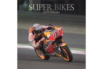Super Bikes 2019 Premium Square Wall Calendar 16 Months New Year Xmas Decor Gift