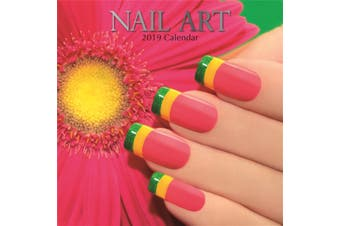 Nail Art 2019 Premium Square Wall Calendar 16 Month NewYear Christmas Decor Gift