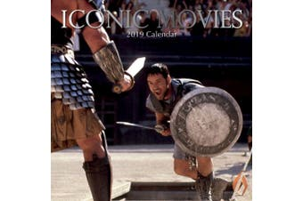 Iconic Movies - 2019 Premium Square Wall Calendar 16 Months New Year Xmas Decor