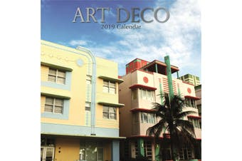 Art Deco - 2019 Premium Square Wall Calendar 16 Months New Year Xmas Decor Gift