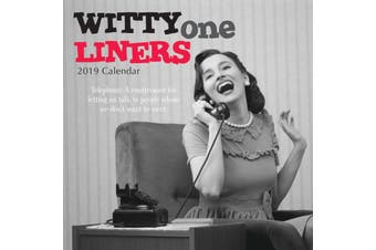 Witty One Liners - 2019 Premium Square Wall Calendar 16 Month New Year Xmas Gift