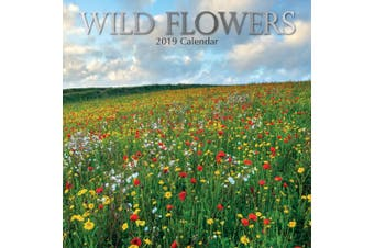Wild Flowers 2019 Premium Square Wall Calendar 16 Months New Year Christmas Gift