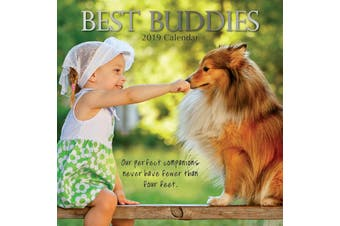 Best Buddies - 2019 Premium Square 16 Months Wall Calendar New Year Xmas Gift