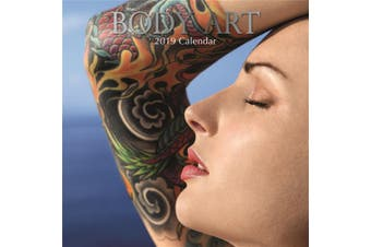 Body Art - 2019 Premium Square Wall Calendar 16 Months New Year Xmas Decor Gift
