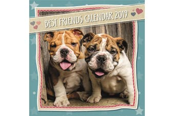 Best Friends - 2019 Premium Square Wall Calendar 16 Months New Year Xmas Décor