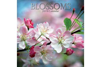 Blossoms - 2019 Premium Square Wall Calendar 16 Months New Year Xmas Decor Gift