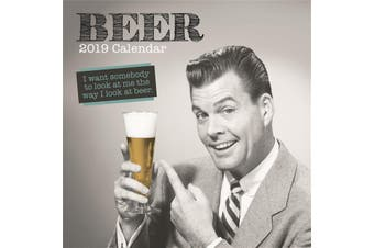 Beer - 2019 Premium Square Wall Calendar 16 Months New Year Christmas Decor Gift