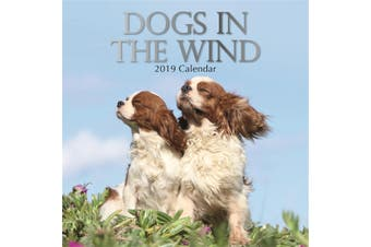 Dogs in the Wind - 2019 Premium Square Wall Calendar 16 Month New Year Xmas Gift